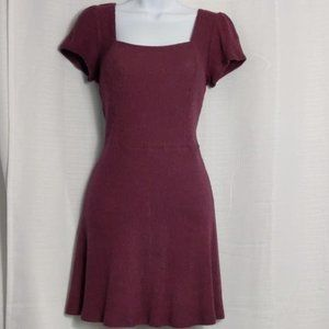 Inspired Hearts - Burgundy fit & flare dress NWT